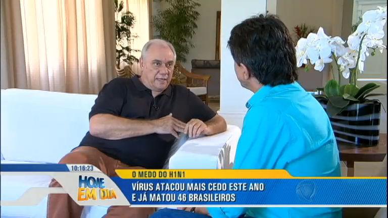 Em recuperação, Marcelo Rezende conta o que sofreu com a gripe ...