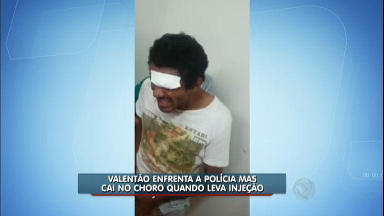 Após se ferir e ser preso, bandido chora para tomar injeção ...