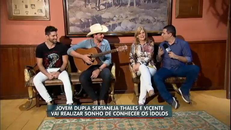 Dupla sertaneja realiza sonho de conhecer ídolos - Notícias - R7 ...