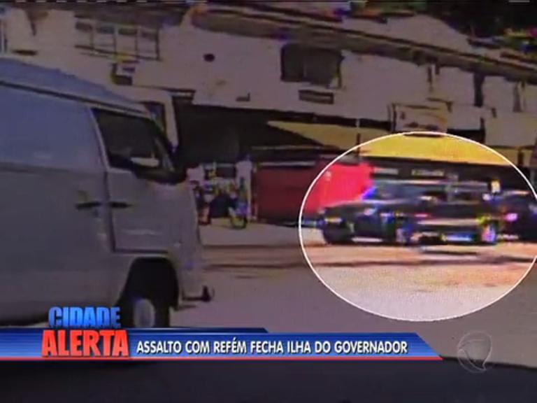 Motorista é feito refém e assaltantes fecham entrada da Ilha do ...