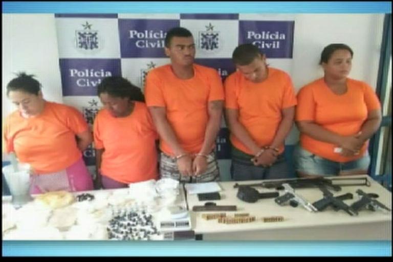 Cinco pessoas são presas em operação em Feira de Santana ...