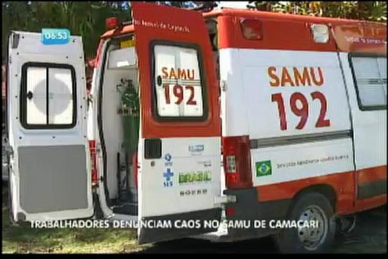 Trabalhadores denunciam caos no Samu de Camaçari - Bahia - R7 ...