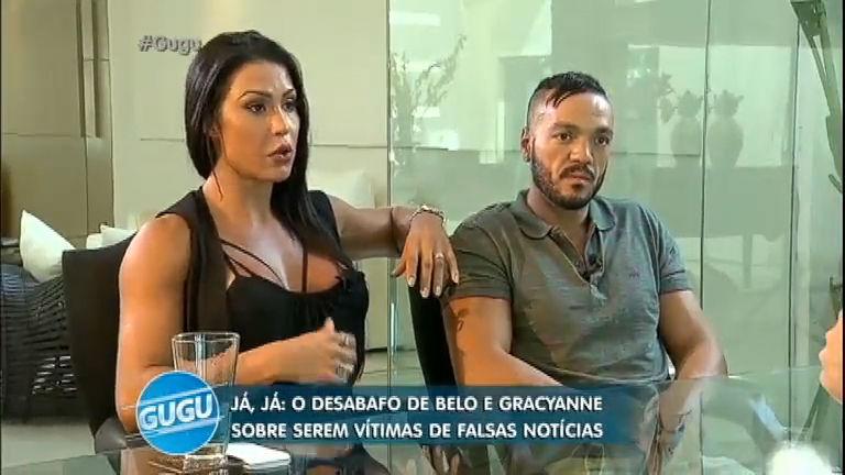 Belo e Gracyanne abrem o jogo em entrevista exclusiva a Gugu ...