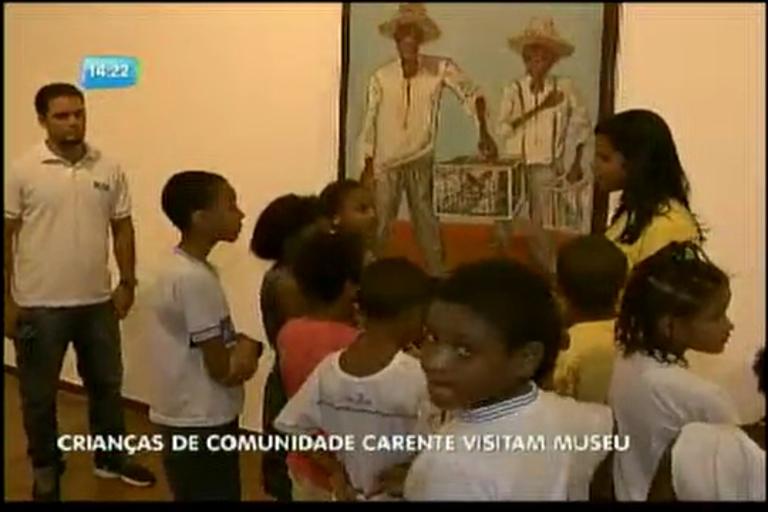 Crianças de comunidade carente visitam museu - Bahia - R7 ...