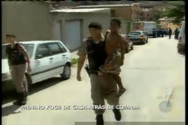 Menino foge de casa atrás de comida - Minas Gerais - R7 MG Record