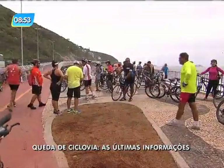 Ciclistas temem passar pelo local após tragédia em São Conrado ...