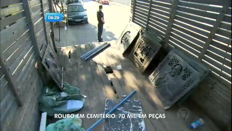 Criminosos são presos por roubar peças de bronze de cemitério em ...
