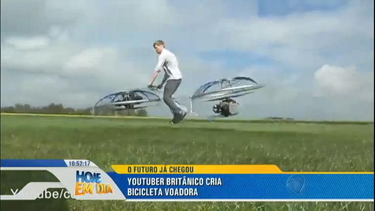 Britânico famoso por suas criações malucas, lança bicicleta voadora ...