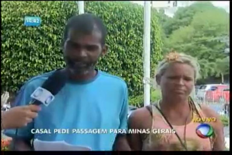 Casal pede passagem para Minas Gerais - Bahia - R7 Balanço ...