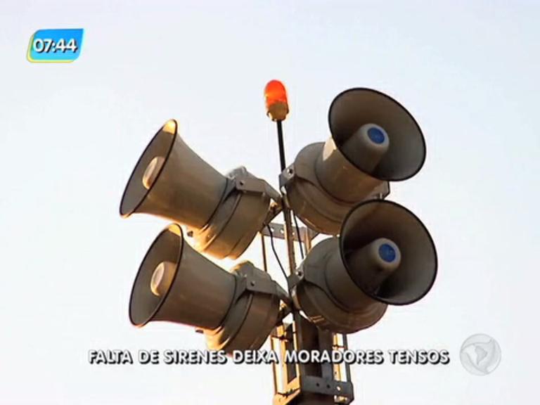 Sem pagamento, sirenes que alertam para chuvas são desligadas e preocupa moradores