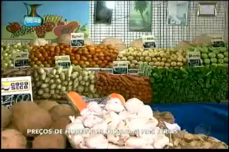 Preços de hortifruti disparam nas feiras