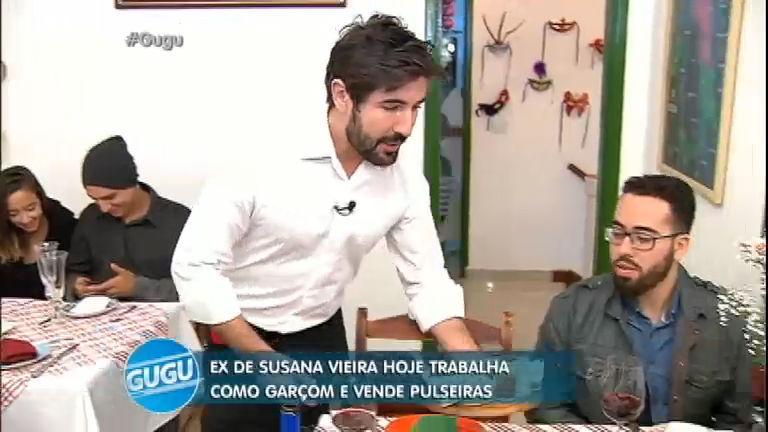 Ex de Susana Vieira, Sandro Pedroso vende pulseiras e faz bicos como garçom