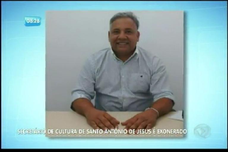 Secretário de Cultura de Santo Antonio de Jesus é exonerado