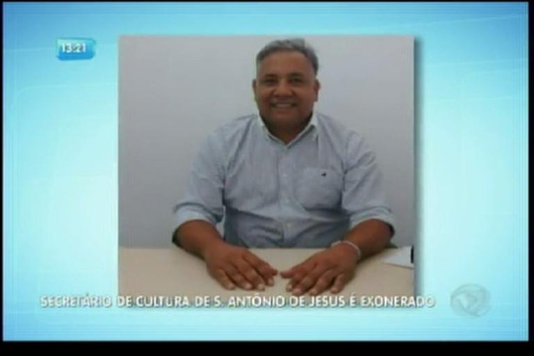 Secretário de cultura de Santo Antônio de Jesus é exonerado