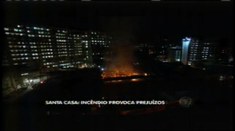 Santa Casa contabiliza prejuízos após incêndio