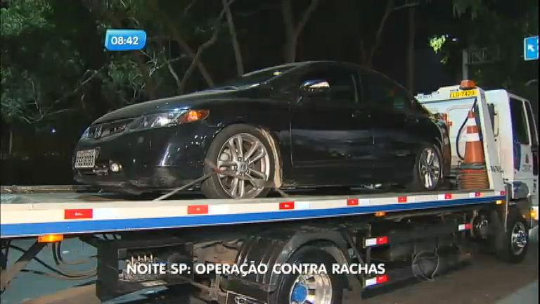 Polícia apreende carros em ponto de racha durante operação na marginal Pinheiros