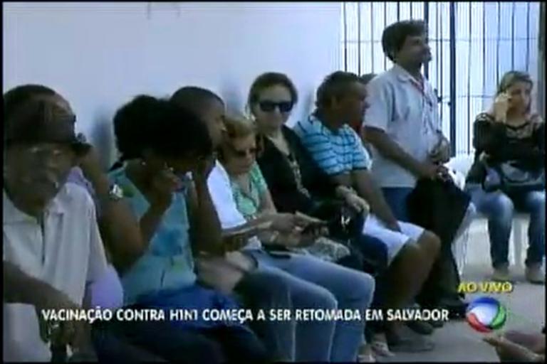 Vacinação contra H1N1 começa a ser retomada em Salvador