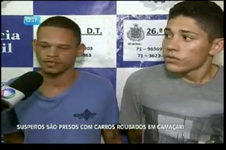 Suspeitos são presos com carros roubados - Bahia - R7 Balanço ...