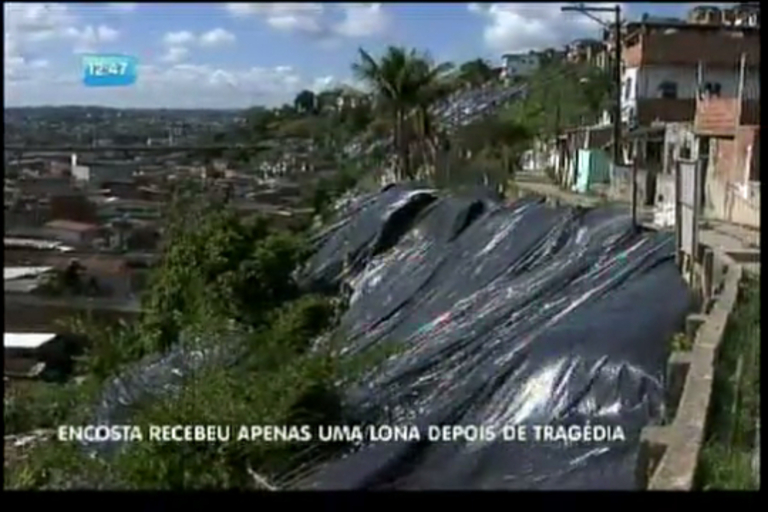 Encosta recebeu apenas uma lona após tragédia - Bahia - R7 ...