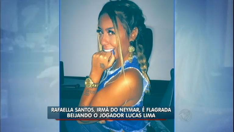 Hora da Venenosa: irmã de Neymar é flagrada aos beijos com jogador