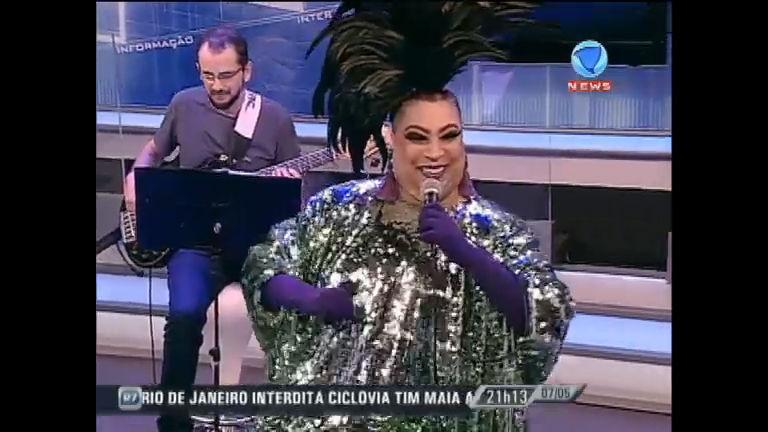 Maria Alcina canta no JR News Talentos - Record News - R7 Jornal ...