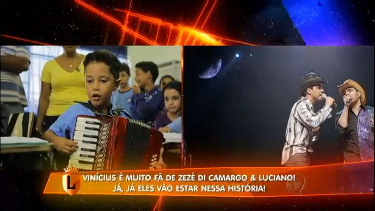 Menino sanfoneiro é surpreendido pelos ídolos Zezé Di Camargo e ...