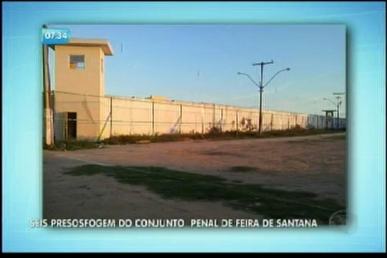 Seis presos fogem do Conjunto Penal de Feira de Santana - Bahia ...