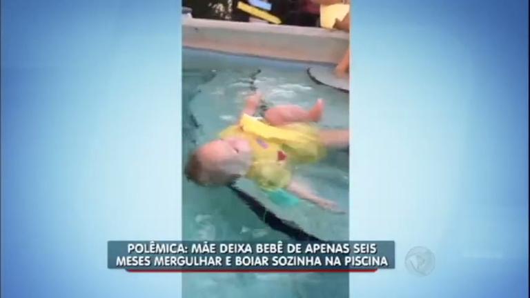 Polêmica: mãe deixa filha de seis meses mergulhar sozinha em ...