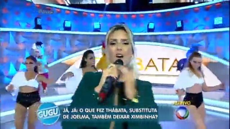 Thábata Mendes canta sucesso no programa do Gugu ...