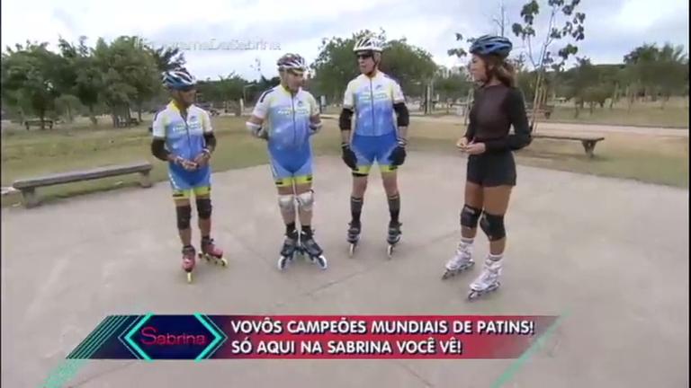 Figurinhas do Brasil: Sabrina conhece patinadores com mais de 70 ...
