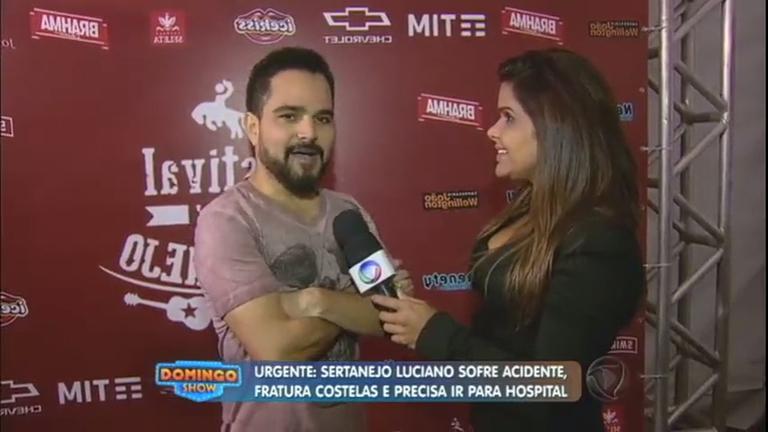"""""""É uma dor insuportável"""", afirma Luciano após sofrer acidente ..."""