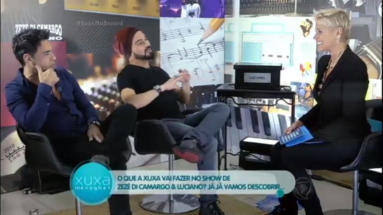 Xuxa entrevista Zezé Di Camargo e Luciano - Entretenimento - R7 ...