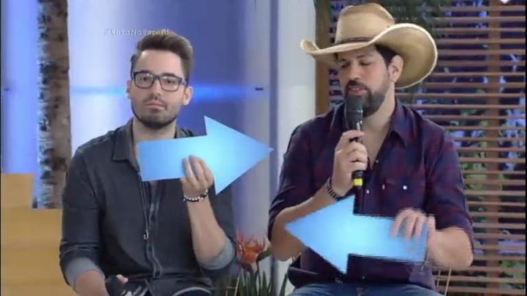 Fernando e Sorocaba se embaraçam nas respostas no Jogo das ...
