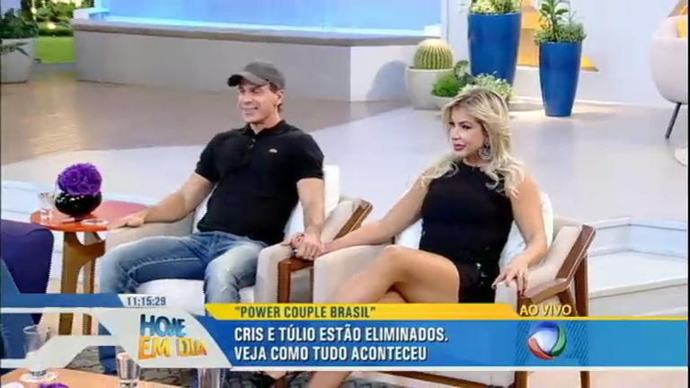 Cris e Túlio falam sobre a eliminação no reality Power Couple Brasil ...