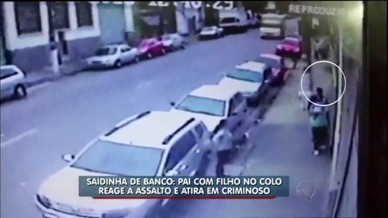 Com filho no colo, policial reage a assalto e atira em bandido na ...