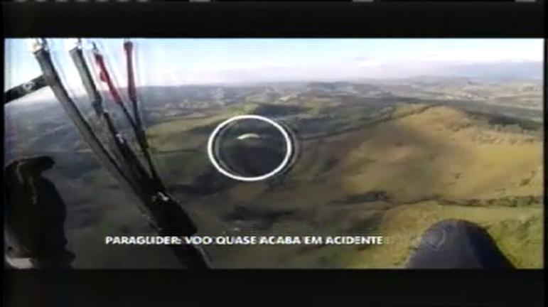 Susto em voo de paraglider quase acaba em acidente - Minas ...
