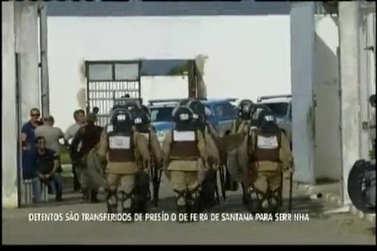 Detentos são transferidos de presídio de Feira de Santana para ...