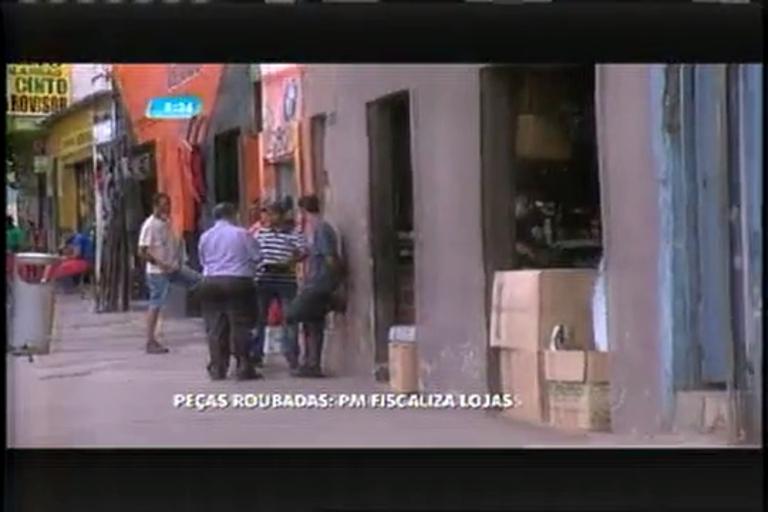 Lojas de peças de carro da avenida Pedro 2º são fiscalizadas pela ...