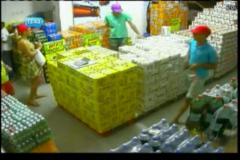 Ladrões roubam deposito de bebidas - Bahia - R7 Balanço Geral BA