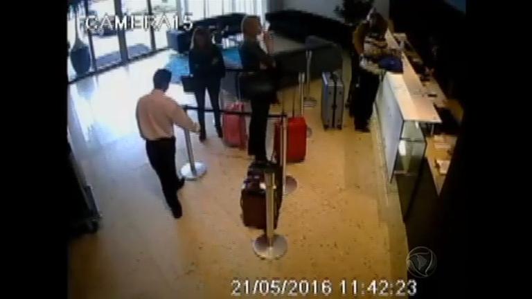 Circuito de segurança mostra movimentação em hotel após atentando contra Ana Hickmann