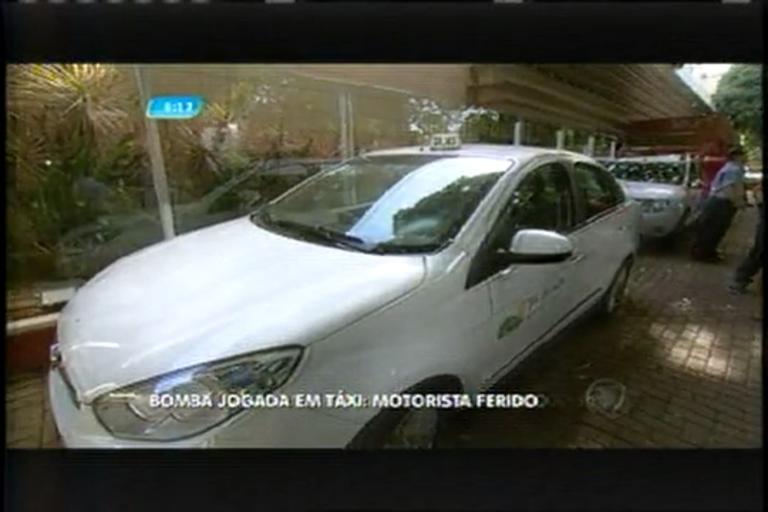 Taxista é atingido por bomba caseira na avenida dos Andradas, em ...