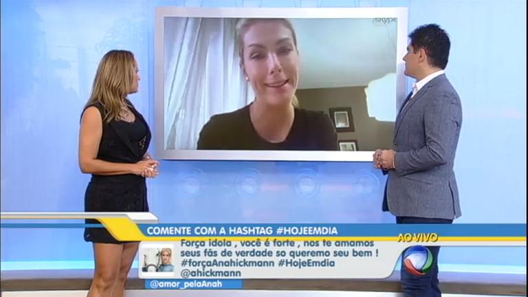 """Em entrevista, Ana Hickmann confessa: """"Ter família perto nessas ..."""
