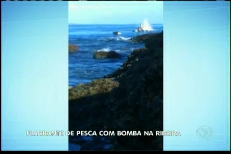 Flagrante de pesca com bomba em Salvador