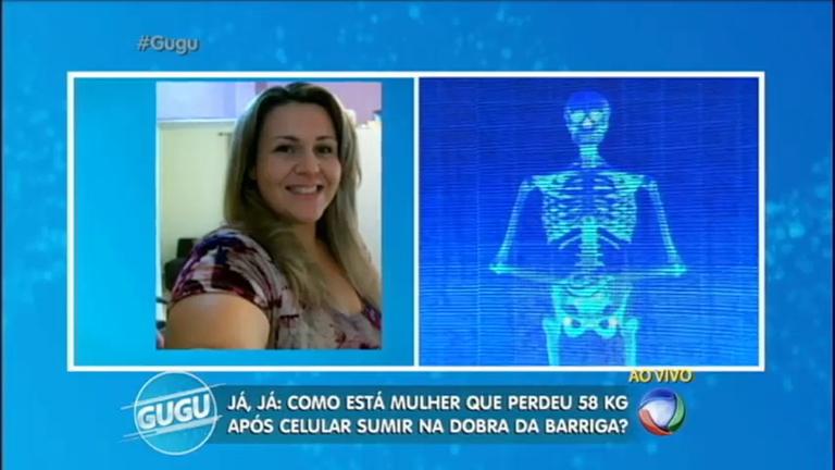 Gugu recebe no palco mulher que perdeu mais de 50 kg após sofrer ...