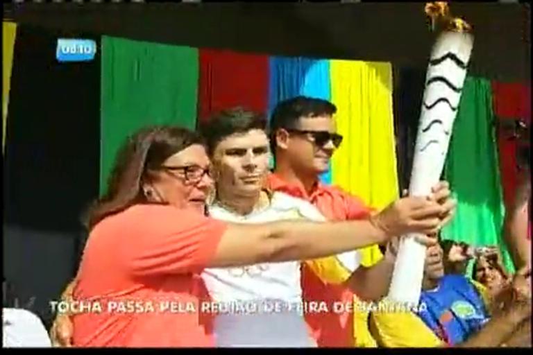 Tocha Olímpica passa pela região de Feira de Santana - Bahia - R7 ...