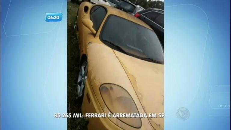 Ferrari de traficante que está apreendida no pátio do Detran é arrematada por R$265 mil