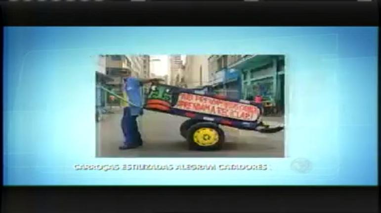 Projeto estiliza carroças e alegra cotidiano de catadores