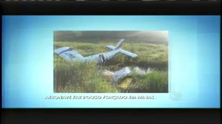 Avião faz pouso forçado na Zona da Mata - Minas Gerais - R7 ...