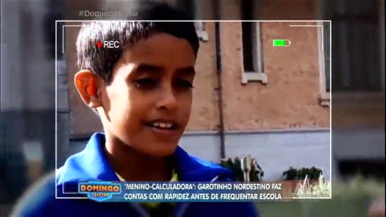 Calculadora humana: garoto nordestino surpreende ao fazer contas com rapidez