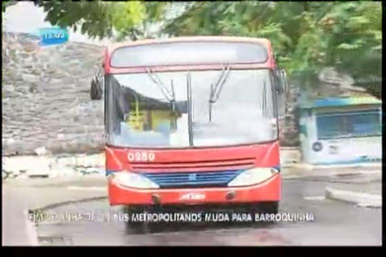 Fim de linha de ônibus metropolitano muda para a Barroquinha